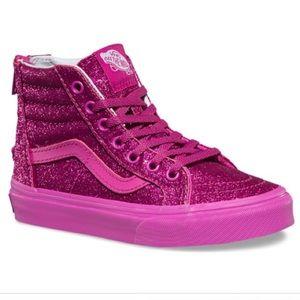 Vans Girls Sk8 Hi Top Old Skool Pink